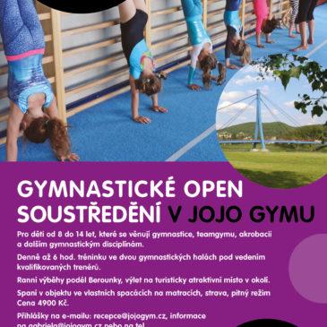 Letní open gymnastické soustředění 2018