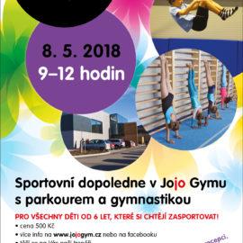 8. 5. 2018 přijďte na sportovní dopoledne s gymnastikou a parkourem